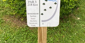Disc Golf Tee Signs