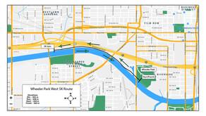 Wheeler Park West 5k Map