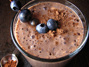 Chocolate blueberry shake