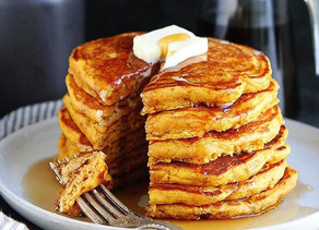 GF Vegan pumpkin pancakes