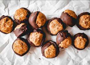 Peanut butter chocolate buckeyes
