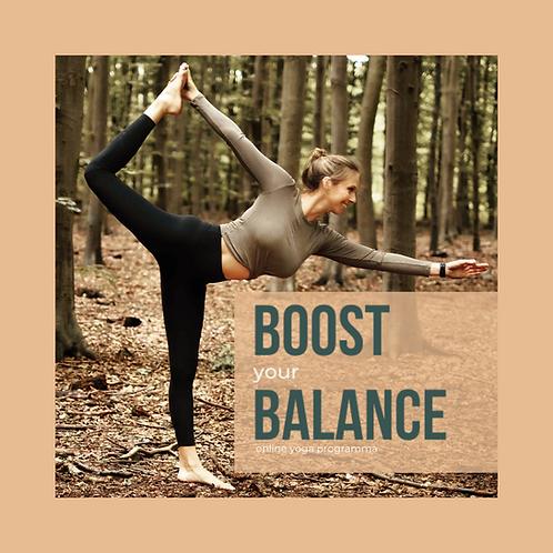 BOOST YOUR BALANCE 6 weken online yoga programma voor body en mind