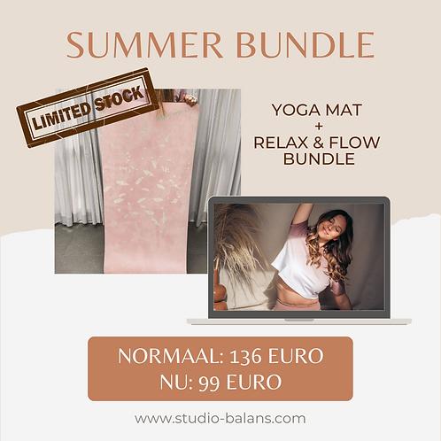 GLAM MIND yoga mat+ RELAX & FLOW bundle