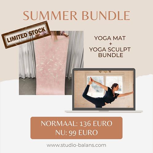GLAM MIND yoga mat + YOGA SCULPT bundle