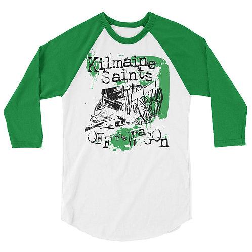 Off The Wagon Raglan Shirt (Green, Black)