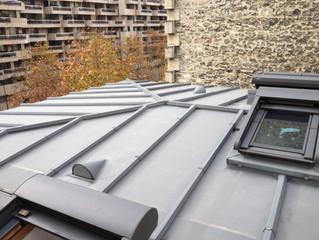 Travaux de rénovation d'une toiture en zinc à Paris