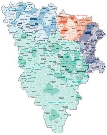 Carte du département des Yvelines (78)