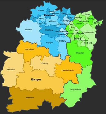 Carte de l'Essonne 91 - Couvreur 91