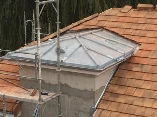 Réfection d'une toiture tuile plate