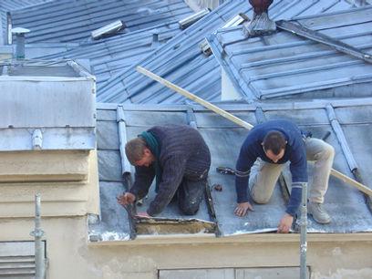 Renovation d'une toiture en zinc, refection toiture zinc, toiture zinc