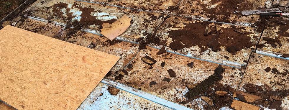 Réfection d'une toiture en shingle avant rénovation
