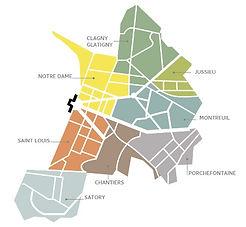 Carte des quartiers de Versailles 78000