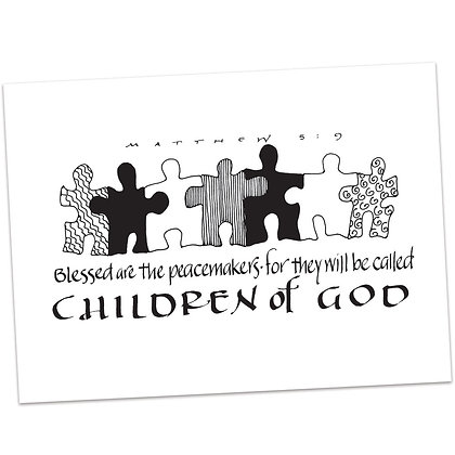 Matthew 5:9 by Sally Beck