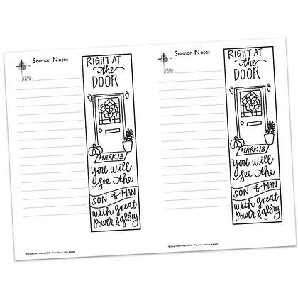 Sermon Notes - Mark 13:24-37