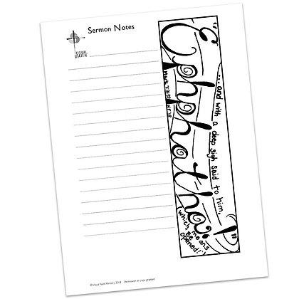 Sermon Notes HS - Mark 7:31-37