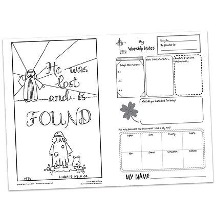 Children's Bulletin - Luke 15:1-3
