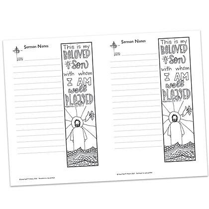 Sermon Notes - Matthew 3:13-17