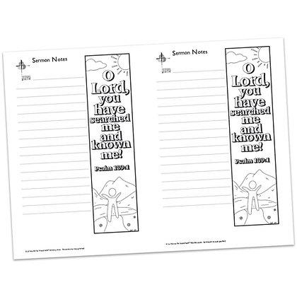 Sermon Notes - Psalm 139:1
