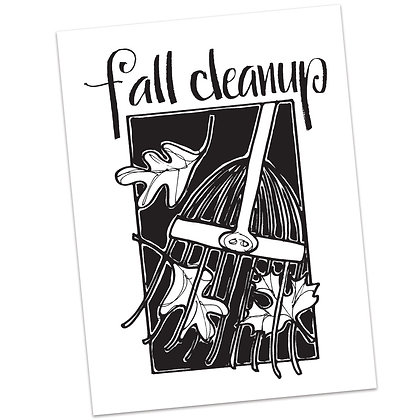 Fall Clean Up by Sally Beck