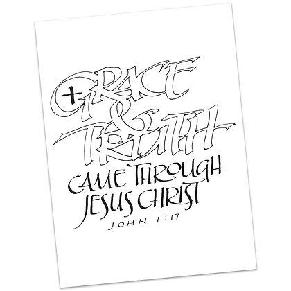 John 1:17 by Sally Beck