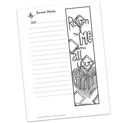 Sermon Notes HS - Joel 2:12