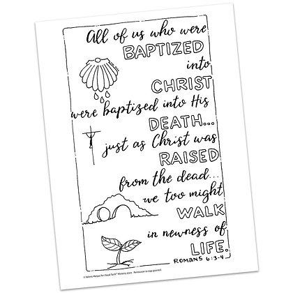 Romans 6:3-4 HS by Valerie Matyas