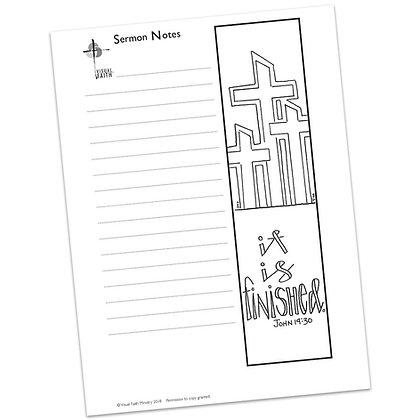 Sermon Notes HS - John 19:30 (vs1)