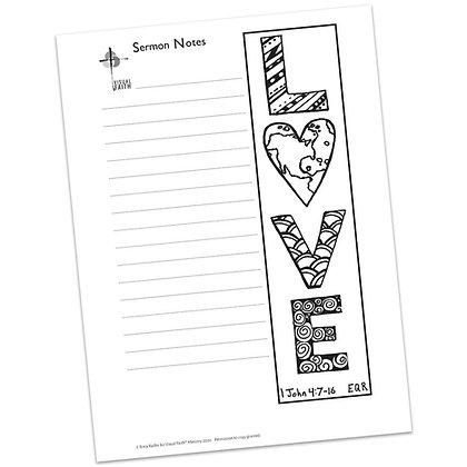 Sermon Notes HS - 1 John 4:7-16