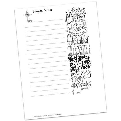 Sermon Notes HS - Psalm 51:1