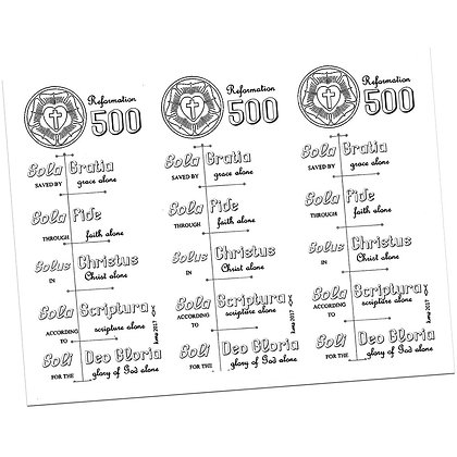 Reformation 500 Years Bookmark by Kathryn Stanis
