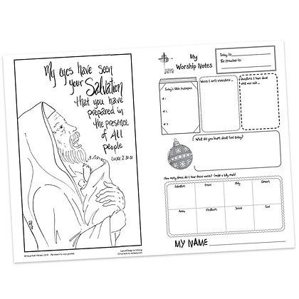 Children's Bulletin - Luke 2:38