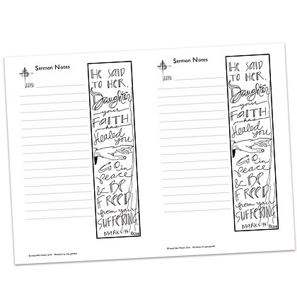 Sermon Notes - Mark 5:34