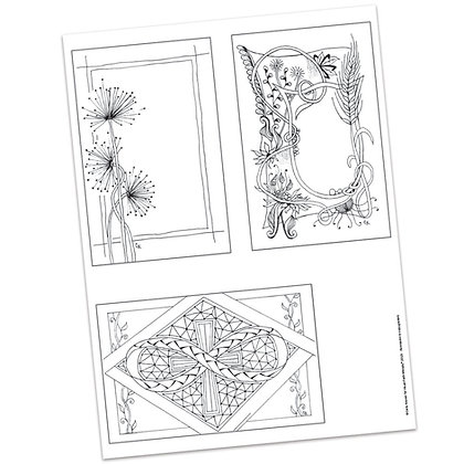 Versicles #7 Blank by Carla Kramer