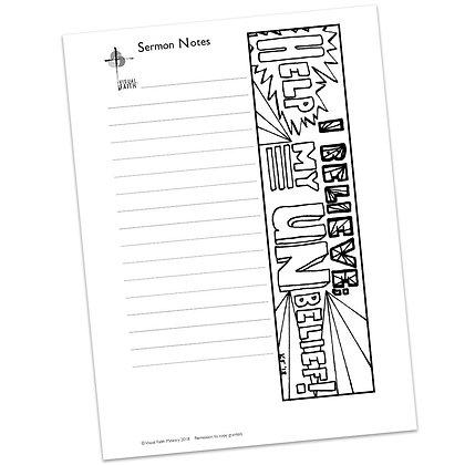 Sermon Notes HS - Mark 9:24