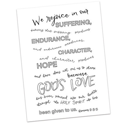 Romans 5:3-5 HS by Elizabeth Warren