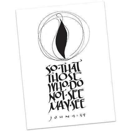 John 9:39 by Sally Beck