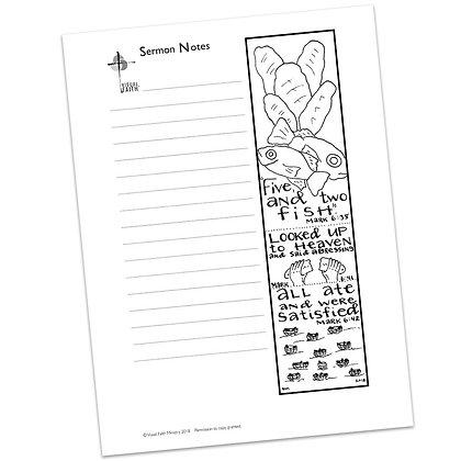 Sermon Notes HS - Mark 6:38-41