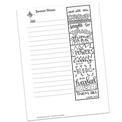 Sermon Notes HS - Luke 6:19