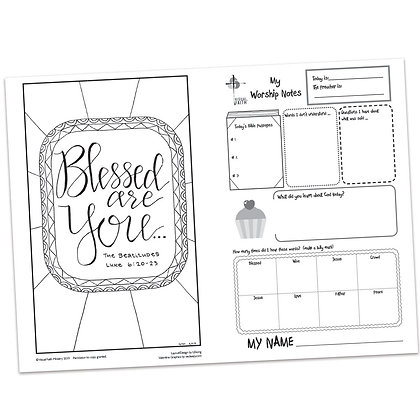 Children's Bulletin - Luke 6:19