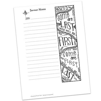 Sermon Notes HS - Luke 13:30