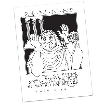 Luke 2:38 by Sally Beck