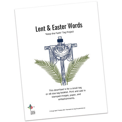 Lent and Easter Words Tag Project