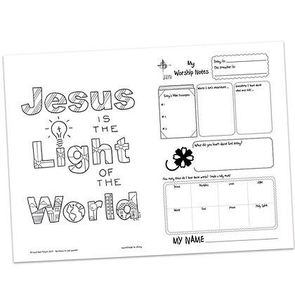 Children's Bulletin - John 3:19
