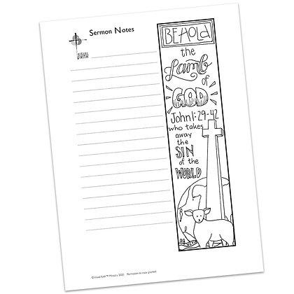 Sermon Notes HS - John 1:29-42