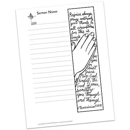 Sermon Notes HS - 1 Thessalonians 5:16-24
