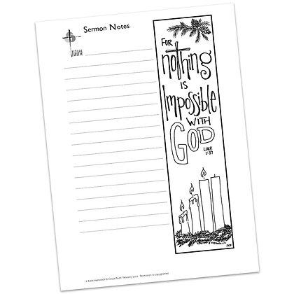 Sermon Notes HS - Luke 1:37
