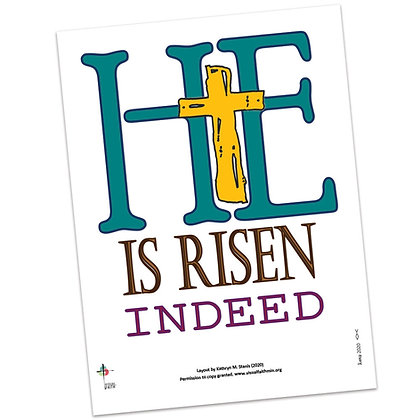 He Is Risen Indeed Printable by Kathryn Stanis