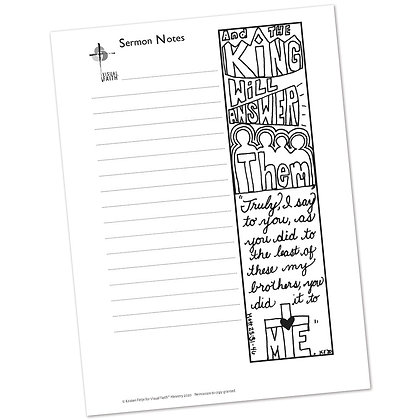 Sermon Notes HS - Matthew 25:31-46