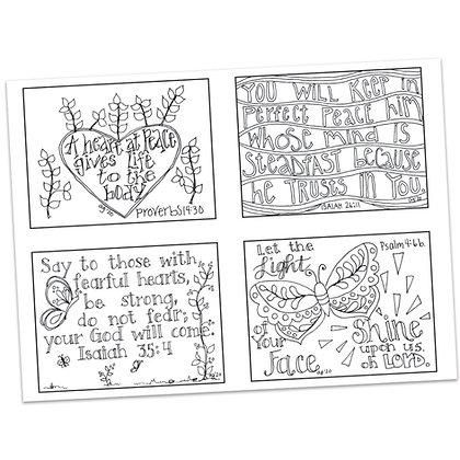 Prayer Postcards Set 1 by Ann Gillaspie