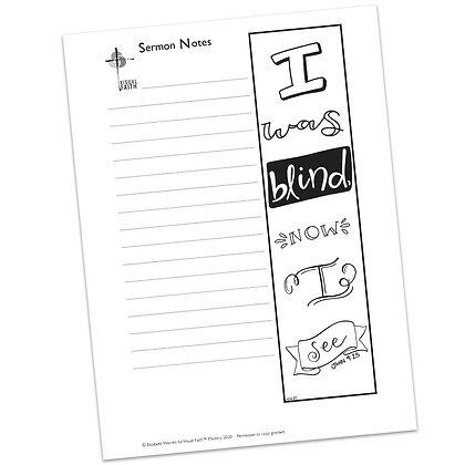 Sermon Notes HS - John 9:25